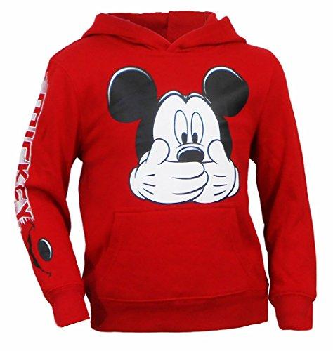 Disney Kids Mickey Mous Big Smile Fleece Red Medium -