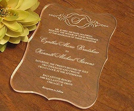 bestlife acrílico transparente invitación de boda Tarjeta con ...