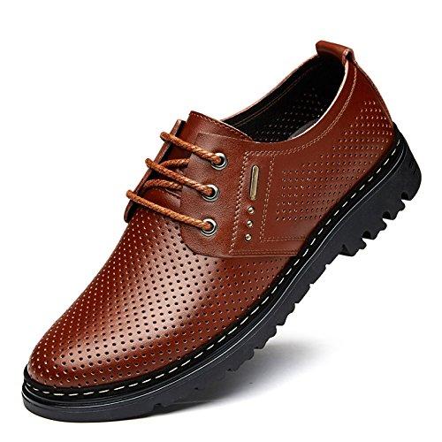 Nuevos Huecos Yxlong Cuero Hollowbrown Zapatos Verano Los Hombres De Transpirables Sandalia rwr4q8z