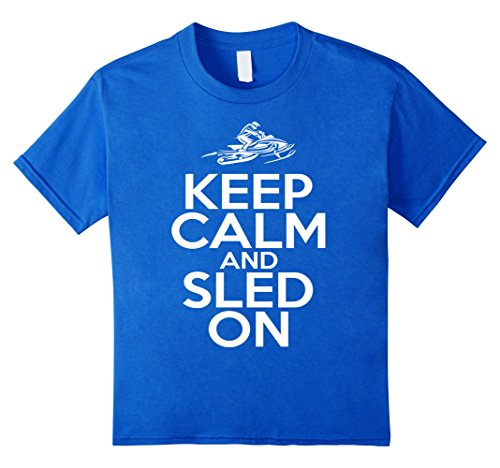 Kids Keep Calm And SLED ON T-Shirt | Snowmobiling Shirts ...
