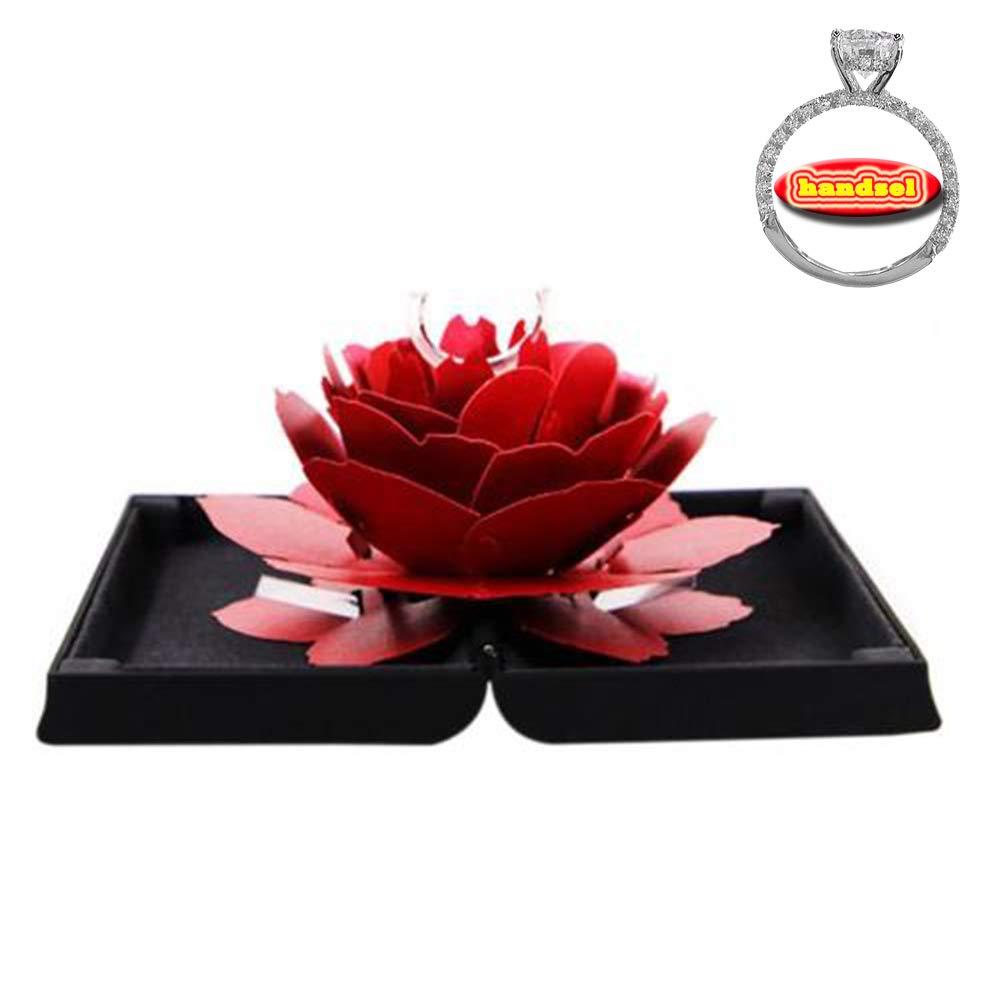 GzxtLTX Custom Rose Ring Box, Coin,Jewelry,Ring Box,Case, Engagement,Wedding,Gift (Black)