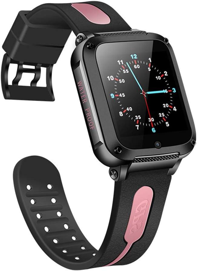 G3S GPS SOS Smart Baby Child Watch IP67 Impermeable Rastreador De Posicionamiento De Llamadas Whatsapp Cámara Anti-Perdida Niños Reloj Inteligente VS Q50,Rosado