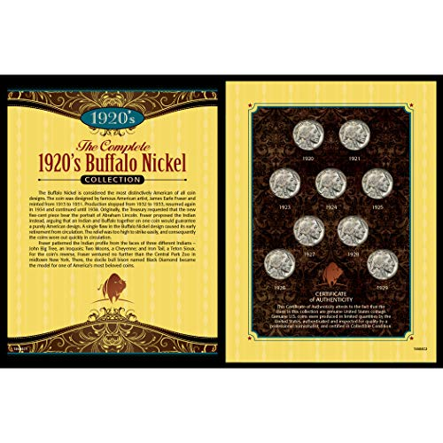 - American Coin Treasures Complete 1920's Buffalo Nickel Collection