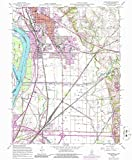YellowMaps Wood River IL topo map, 1:24000 Scale, 7.5 X 7.5 Minute, Historical, 1955, Updated 1986, 26.7 x 22 in - Paper