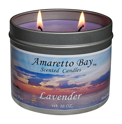 Soy Wax Travel Tin Candle (Amaretto Bay Soy Wax Scented Candles 16oz Aromatherapy Travel Tin)