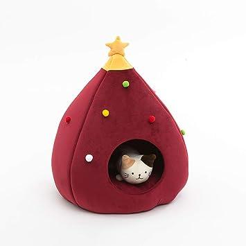 Amazon.com: PLDDY cama para mascotas árbol de Navidad casa ...