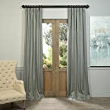 HPD HALF PRICE DRAPES LN-XS5520-84 Linen Curtain, Grey