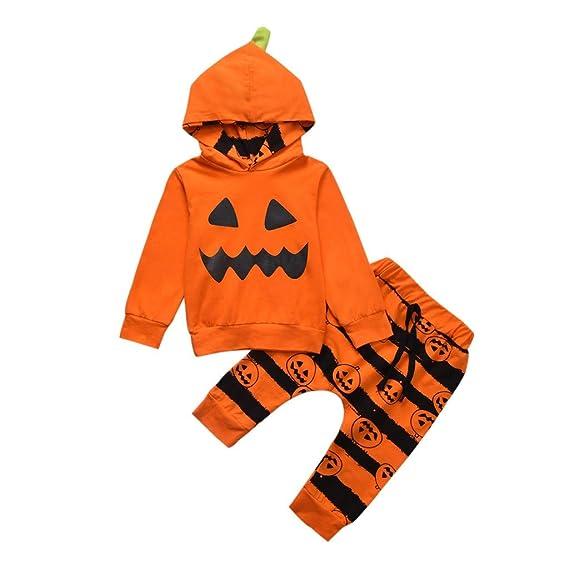 Baiomawzh Ropa Halloween Bebe Niñas Niños Encapuchado Manga Larga ...