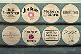 Wood Wall Art Photography - Bourbon Themed Decor: Kentucky Bourbon Barrel Lids 24''x36''
