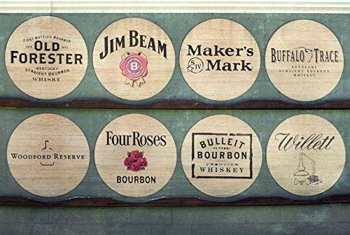 Wood Wall Art Photography - Bourbon Themed Decor: Kentucky Bourbon Barrel Lids 24''x36'' by A Rusty Peddler at Handmade