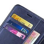 Jotech® Vintage Leather Flip Cover Case for Xiaomi Redmi Note 10s [Blue]