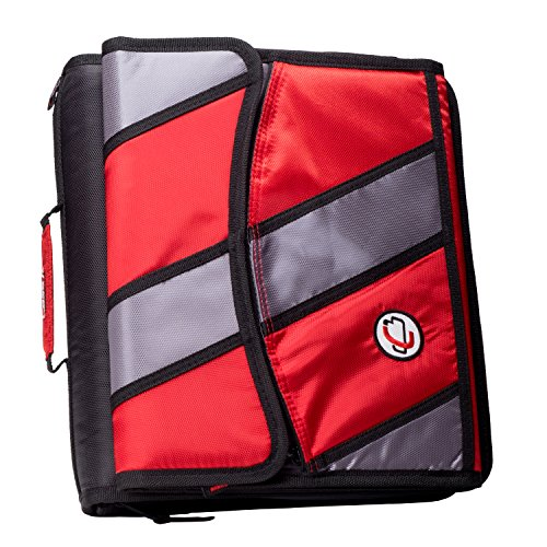 Binder Removable Ring 3 2 (Case-it Sidekick 2-Inch O-Ring Zipper Binder with Removable Tab File, Red, D-901-RED)