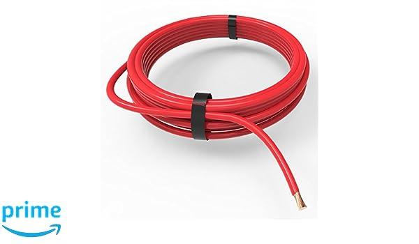 rojo Auprotec/® Cable unipolar 1.0 mm/² FLRY-B Hilo el/éctrico en anillo 10m