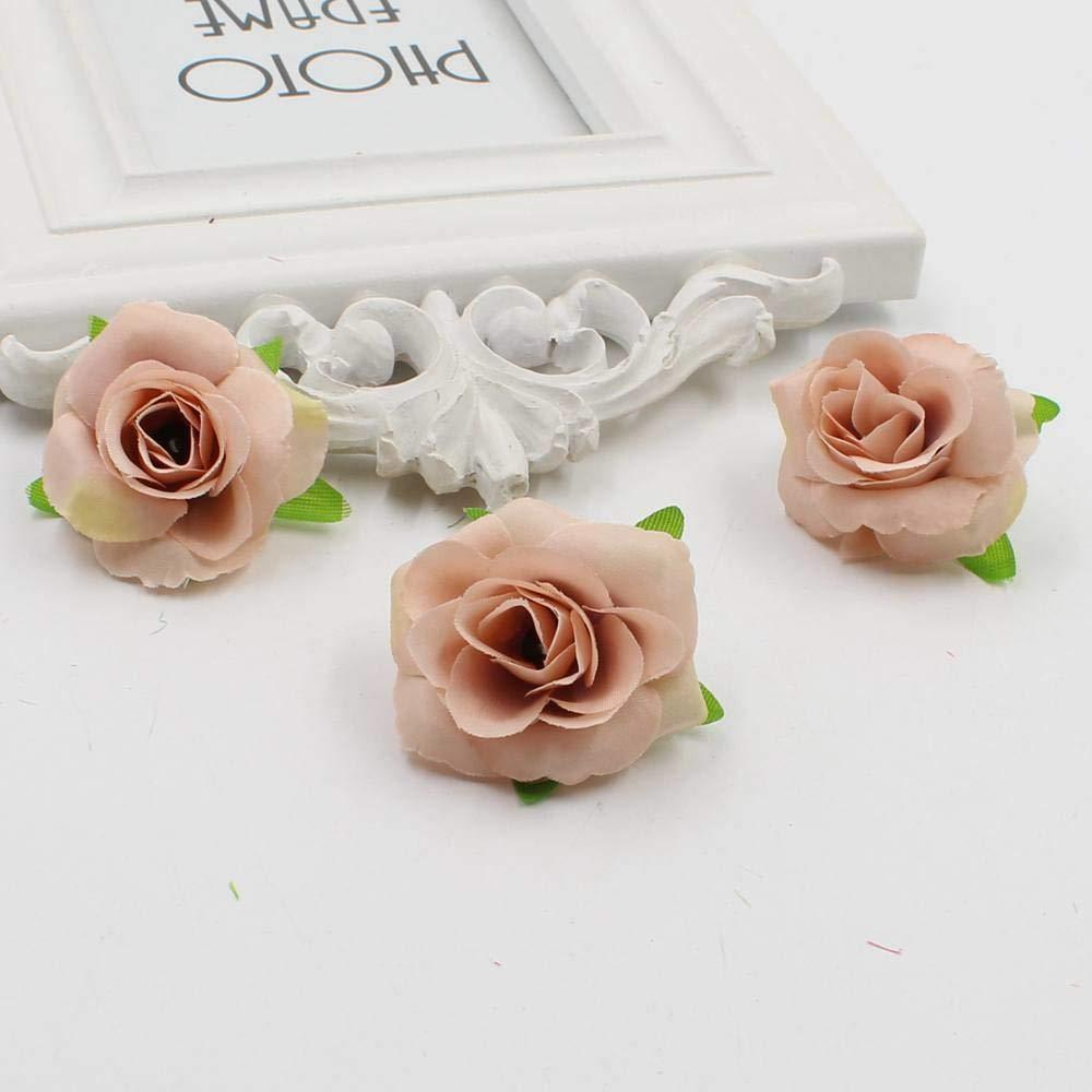 PPL21 花の造花 フレッシュで人工の小さなお茶 紅茶 小さな花 ピンクシルク デコレーション フラワーヘッド 花 DIY Acc 30個 B07H9Z6XFC 1