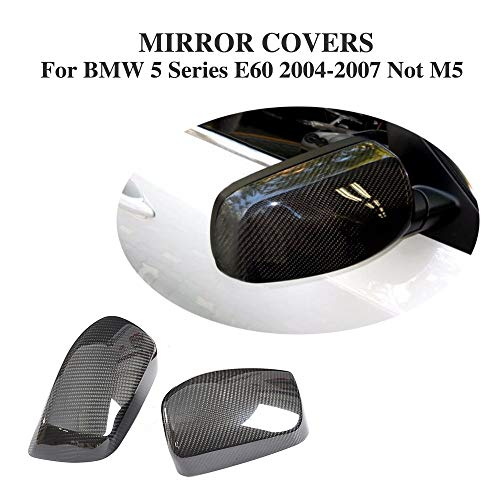 - Pukido Add On Style Dry Carbon Fiber Rear View Mirror Cover Caps for BMW 5 Series E60 Sedan 4 Door 2004-2007 Not M5 Car Accessories