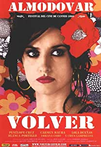 Amazon.com: HUGE LAMINATED / ENCAPSULATED Almodovar - Volver Classic Italian Film POSTER