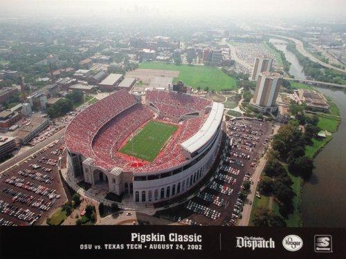 Ohio State University Horseshoe Stadium Pigskin Classic OSU vs. Texas Tech August 24, 2002 Poster (11