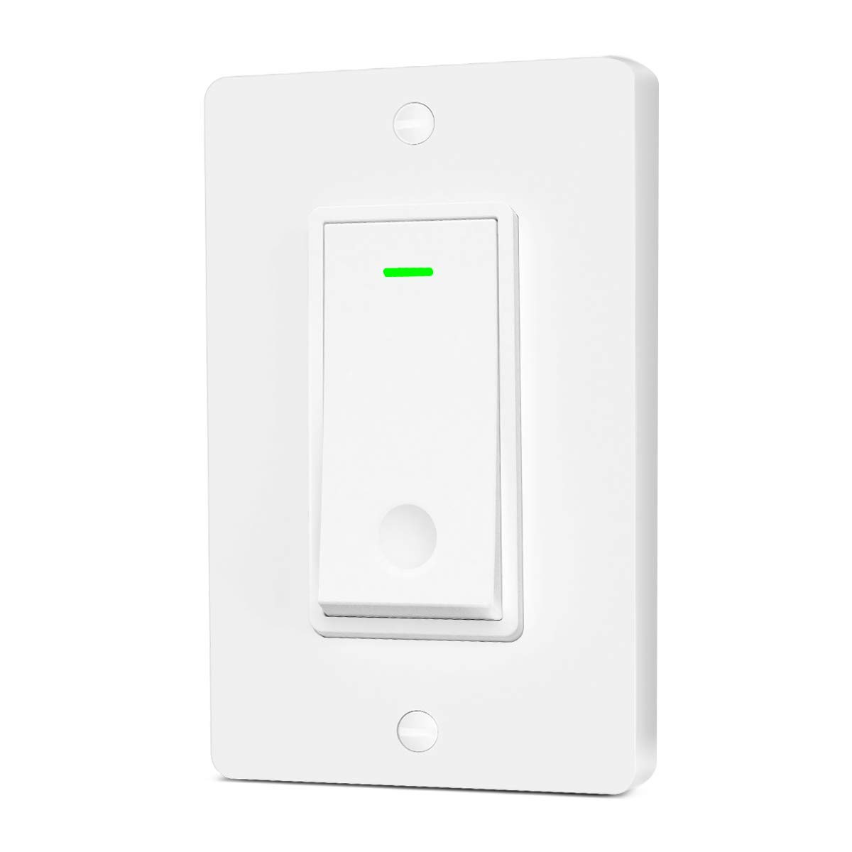 Aoycocr Smart Light Switch Single Pole - Neutral Wire Needed, 2.4Ghz Wi-Fi Light Switch, Easy to Install, Works with Alexa, Google Assistant & IFTTT, Schedule, Remote Control, FCC Listed