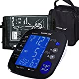 GoWISE USA Digital Blood Pressure Monitor with Hypertension Risk Indicator, Large Size Cuff, Large LCD Display - FDA Approved