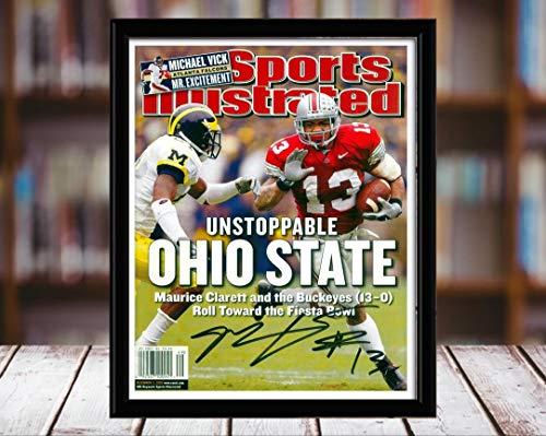 - Maurice Clarett Sports Illustrated Autograph Replica Print - Unstoppable - Ohio State Buckeyes - 12/2/2-8x10 Desktop Framed Print