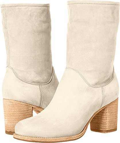 Ivory Womens Boots - FRYE Women's Addie Mid Boot, Ivory, 7.5 M US
