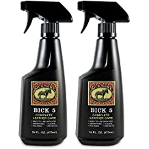 Bickmore Bick 5 Leather Cleaner & Conditioner Spray 16oz (2-Pack) - Leather Conditioner Spray for Large Surfaces - Leather Couches, Upholstery, Jackets, Handbags, Purses, Auto Interiors, Shoes, Boot