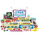 Woodstock Candy 1968 50th Birthday Gift Box - Nostalgic Retro Candy Mix from Childhood for 50 Year Old Man or Woman Jr.