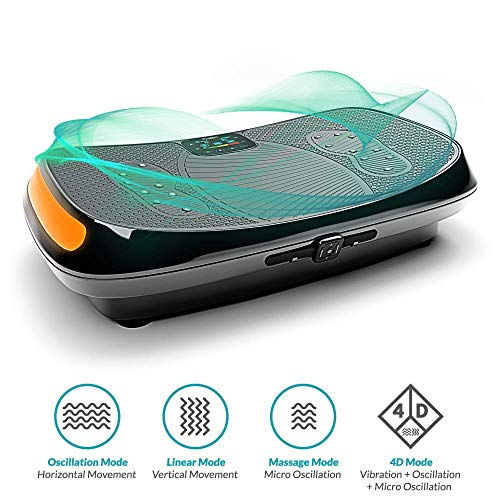 Bluefin Fitness 4D Triple Motor Vibration Plate | Powerful | Magnetic Therapy Massage | Curved Surface | 4.0 Bluetooth Speakers | Vibration Oscillation & Micro Vibration | 3 Silent Drive Motors by Bluefin Fitness (Image #6)