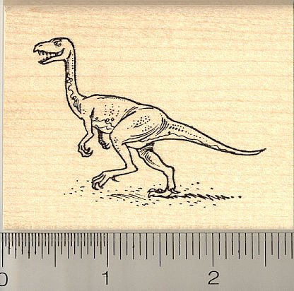 Running Dinosaur Rubber Stamp