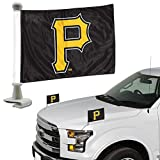 Promark Pittsburgh Pirates 2-Pack Ambassador Style Auto Flag Car Banner Set Baseball