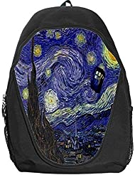 Doctor Who Tardis Police Call Box Starry Night Van Gogh Backpack Bag