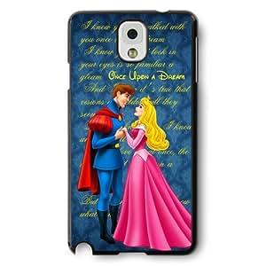 Classic Disney Cartoon Sleeping Beauty Aurora Hard Plastic Phone Case Cover for Samsung Galaxy Note 3 - Black