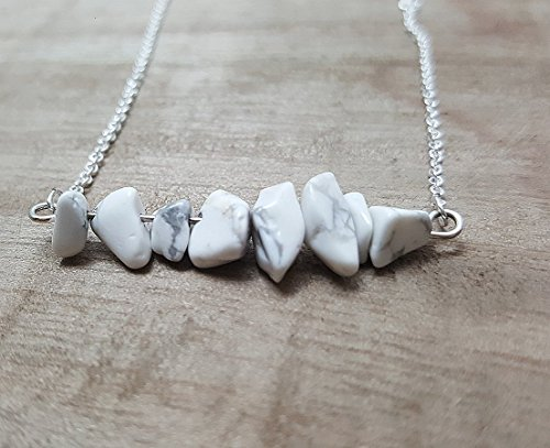 white-agate-chip-bar-silver-plated-necklace