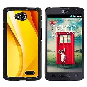 Caucho caso de Shell duro de la cubierta de accesorios de protección BY RAYDREAMMM - LG Optimus L70 / LS620 / D325 / MS323 - Orange Red Banana Abstract