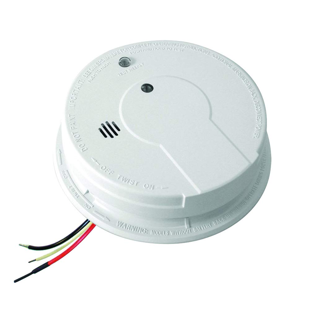 Kidde I12040 120v Ac Wire In Smoke Alarm With Battery Backup And Burglar Detectors Wiring Diagram 4 Wires Smart Hush