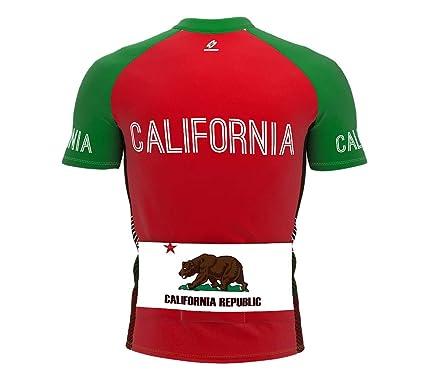 6353ce4b3 Amazon.com  ScudoPro California Bike Short Sleeve Cycling Jersey for Men   Clothing