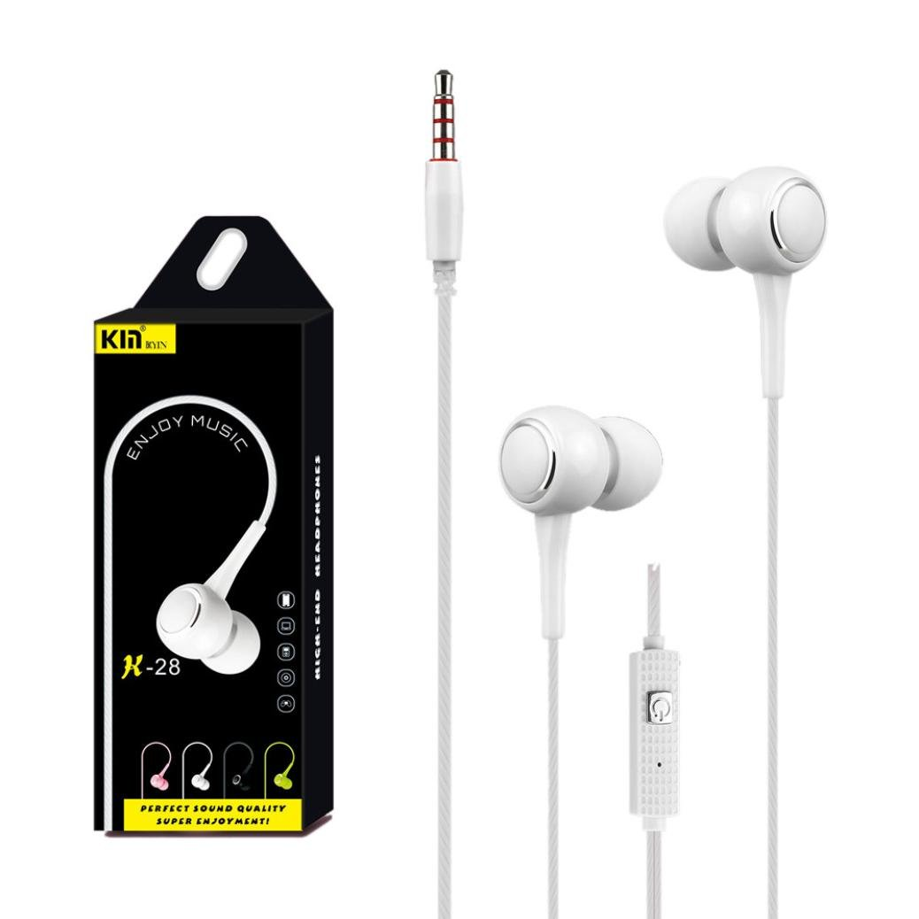 iPhone 5 5S Samsung Galaxy,Ipad,etc Diadia Universal 3.5mm In-Ear Headset Noise Cancelling Sport Earphone With Mic for iPhone//iPhone X//8 PLUS//8 Pink iPhone 7 6S 6 Plus
