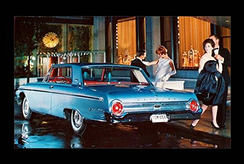1962 FORD GALAXIE 500 CLUB VICTORIA 2-Door HARDTOP VINTAGE FACTORY COLOR POSTCARD - USA - AWESOME ORIGINAL POST CARD !!IR (1962 Hardtop)