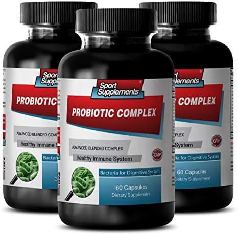 Probiotics culturelle for Adults - Probiotic Complex - Improves Digestive Health (3 Bottles - 180 Capsules)