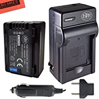 BM Premium VW-VBT190 Battery and Battery Charger for Panasonic HC-V800K, HC-VX1K, HC-WXF1K, HCV510, HCV520, HC-V550, HC-V710, HC-V720, HC-V750, HC-V770, HC-VX870, HC-VX981, HC-W580, HC-W850, HC-WXF991