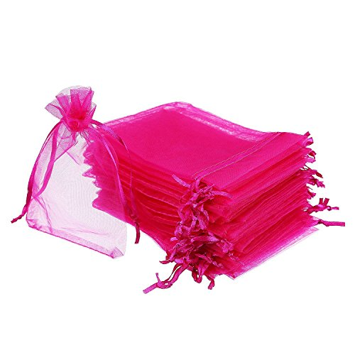 SODIAL(R) 50 Pieces 4 by 6 Inch Organza Gift Bags Drawstring Jewelry Pouches Wedding Party Favor Bags - Bag Tiffany Jewelry