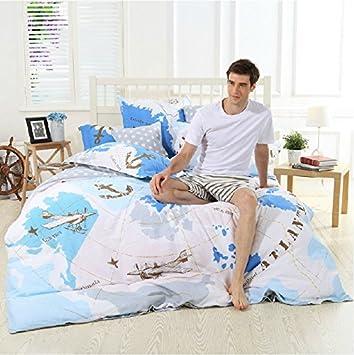 Amazon lelva world map bedding sets bedding planes arctic lelva world map bedding sets bedding planes arctic ocean bedding set cotton duvet gumiabroncs Images