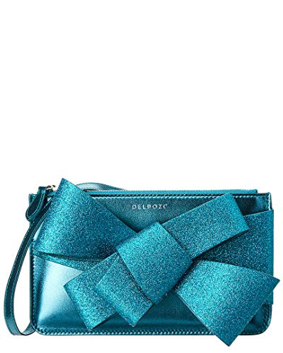 Green Mini Clutch Bow Leather Delpozo Zip XqpIXw