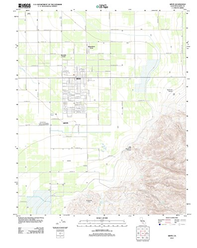 USGS Historical Topographic Map | 2012 Arvin, CA |Fine Art Cartography Reproduction - Ca Arvin Map