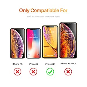 GVIEWIN Compatible with iPhone XR Cases, Clear Flower Design Soft & Flexible TPU Ultra-Thin Shockproof Transparent Bumper Protective Floral Cover, Case for iPhone XR 6.1 Inch 2018(Peach Blossom/Pink)