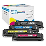ChenPhon Compatible HP202A CF500A CF501A CF502A CF503A (Upgraded Version) Color Toner Cartridge for HP LaserJet Pro MFP M281fdw, M254dw, MFP M281cdw printers-4 Pack