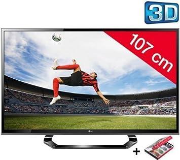 LG 42LM615S televisor LED 3D HD TV 1080p, 42 Pulgadas (107 cm) 16/9, 2000 Hz, DVB-T HD, 3D Ready, Ethernet, HDMI X3, USB 2.0 x2 + 3 años de garantía: Amazon.es: Electrónica