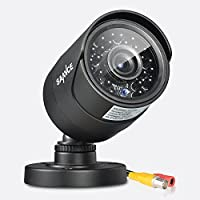 SANNCE HD 900TVL CCTV Security Camera Day Night Vision 24 IR Leds Weatherproof Wide Angle 3.6mm Lens Bullet Video CCTV Camera, IP 66 Weatherproof, No Power Supply No Cable