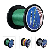 Shaddock Fishing Super Strong Braided Fishing Line - 4 Strands Multifilament Pe Fishing Line - Abrasion Resistant Braided Lines – Incredible Super Power line 10LB-133LB, 110 Yards-1100 Yards