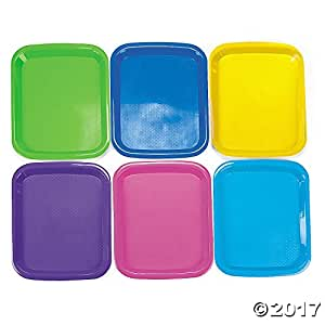 6 Plastic Cool Craft Trays - Art & Craft Supplies & Paint Accessories